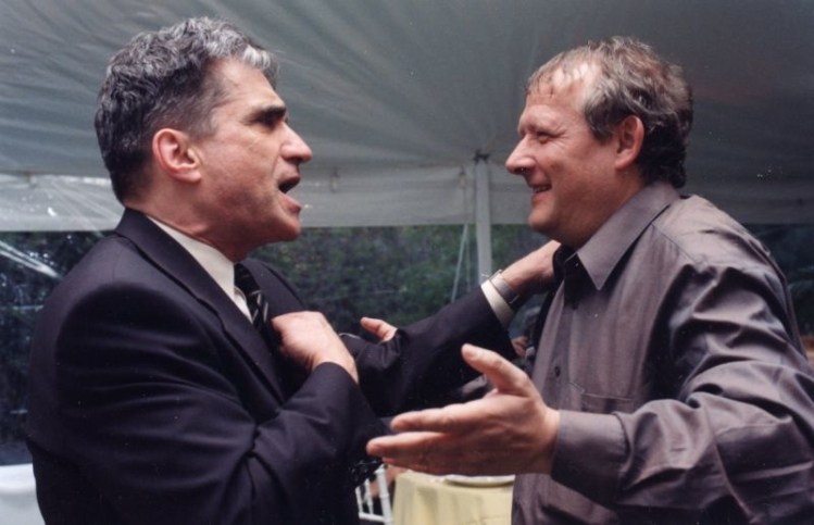 Robert Pinsky with Adam Michnik (photo)